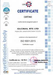 GLOBAL RTS със сертификация по ISO 9001:2015